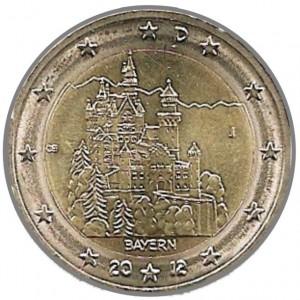 2 Euro Gedenk Münze Neuschwanstein Ludwig Ii Bayern