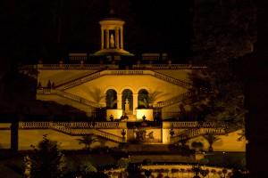 Terrassengärten mit nächtlicher Illumination © Bayerische Schlösserverwaltung